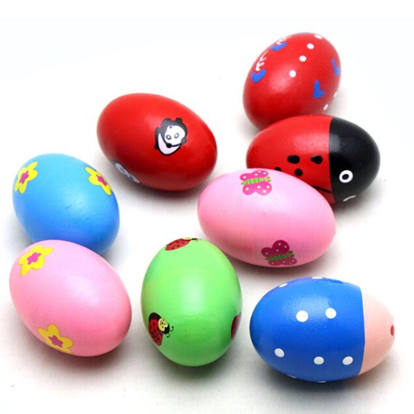 Shop Online for Wooden Musical Toys for Toddlers: Egg Shaker Sand Percussion