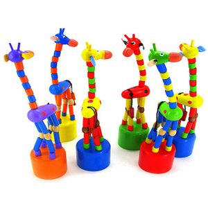 Shop: Colourful Wooden Bendy Rocking Giraffe