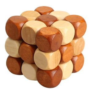 Shop: Wooden Snake Cube Lock Puzzle