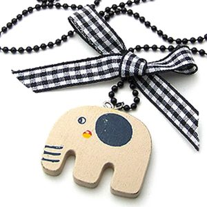 Shop: Wooden Elephant Pendant Necklace
