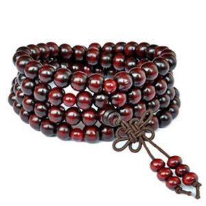 Tibetan Buddhist Prayer Wooden Bead Mala Bracelet