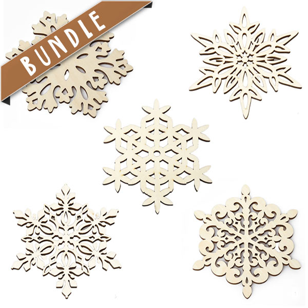Shop online wooden snowflake drink coaster