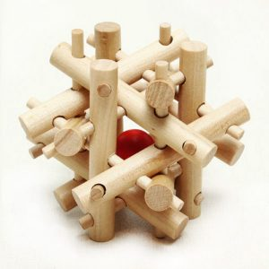 'Thick & Thin Sticks' Wooden Lock Puzzle