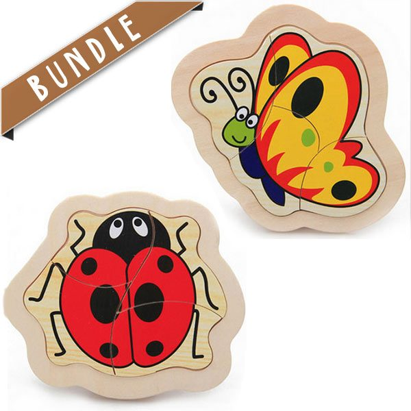 Fun and educational learning tools - Classic wooden Puzzles for kids and toddlers