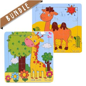Shop online for fun animal wooden jigsaw puzzle for toddlers and young kids