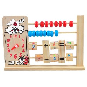 Early-Learning Educational Toy - Multi-Function Wooden Abacus - Learn numbers and counting
