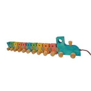 QToys Wooden Lacing Train