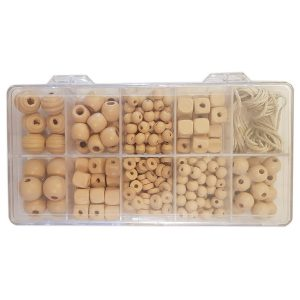 Wooden bead box